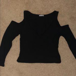 Black crop top Size M